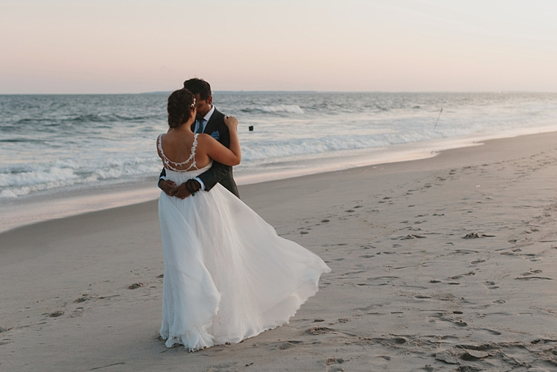 Wedding Portraits on the beach in Rockaway New York