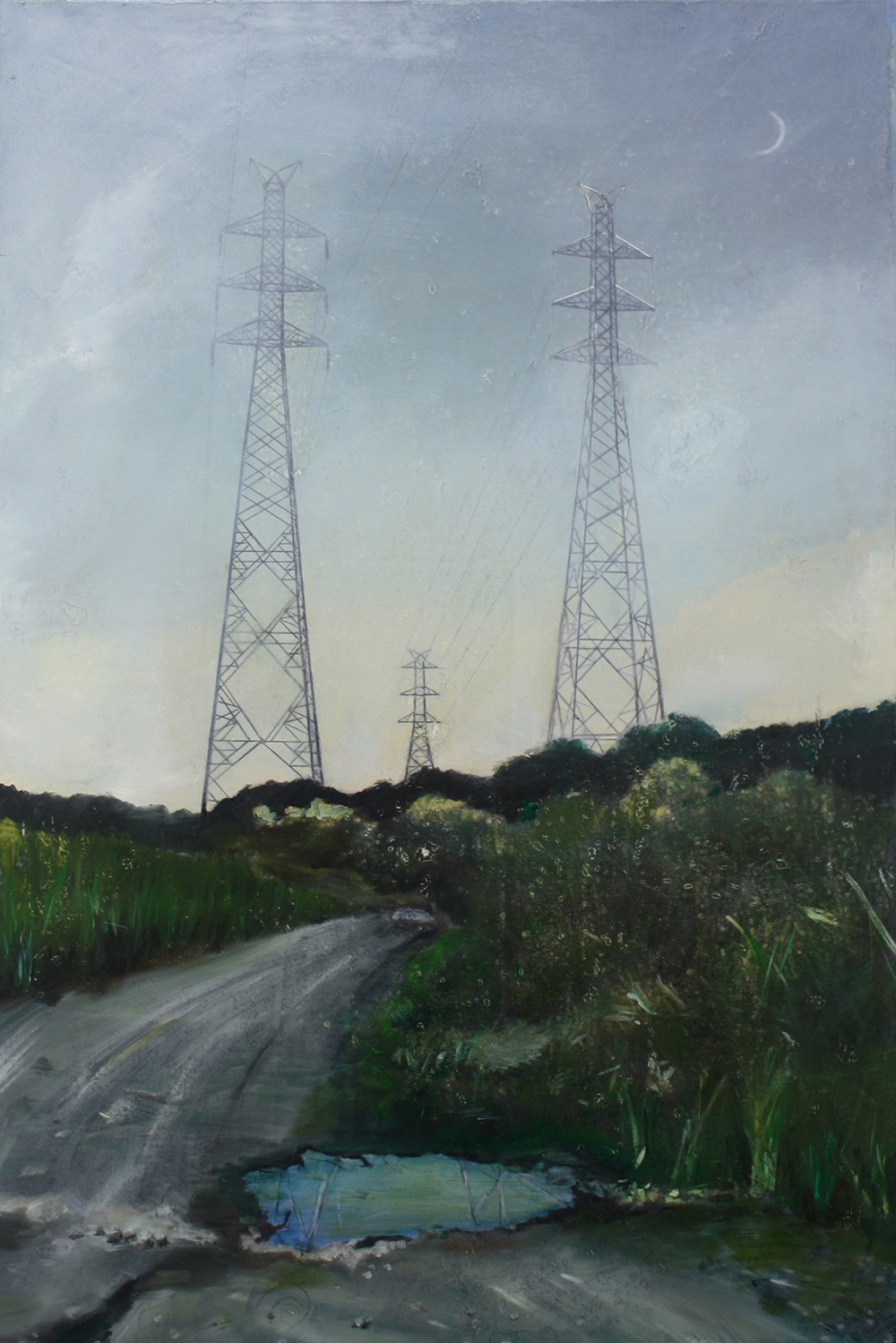 Edgeland 6   2012, oil on linen  50 x 76 cm