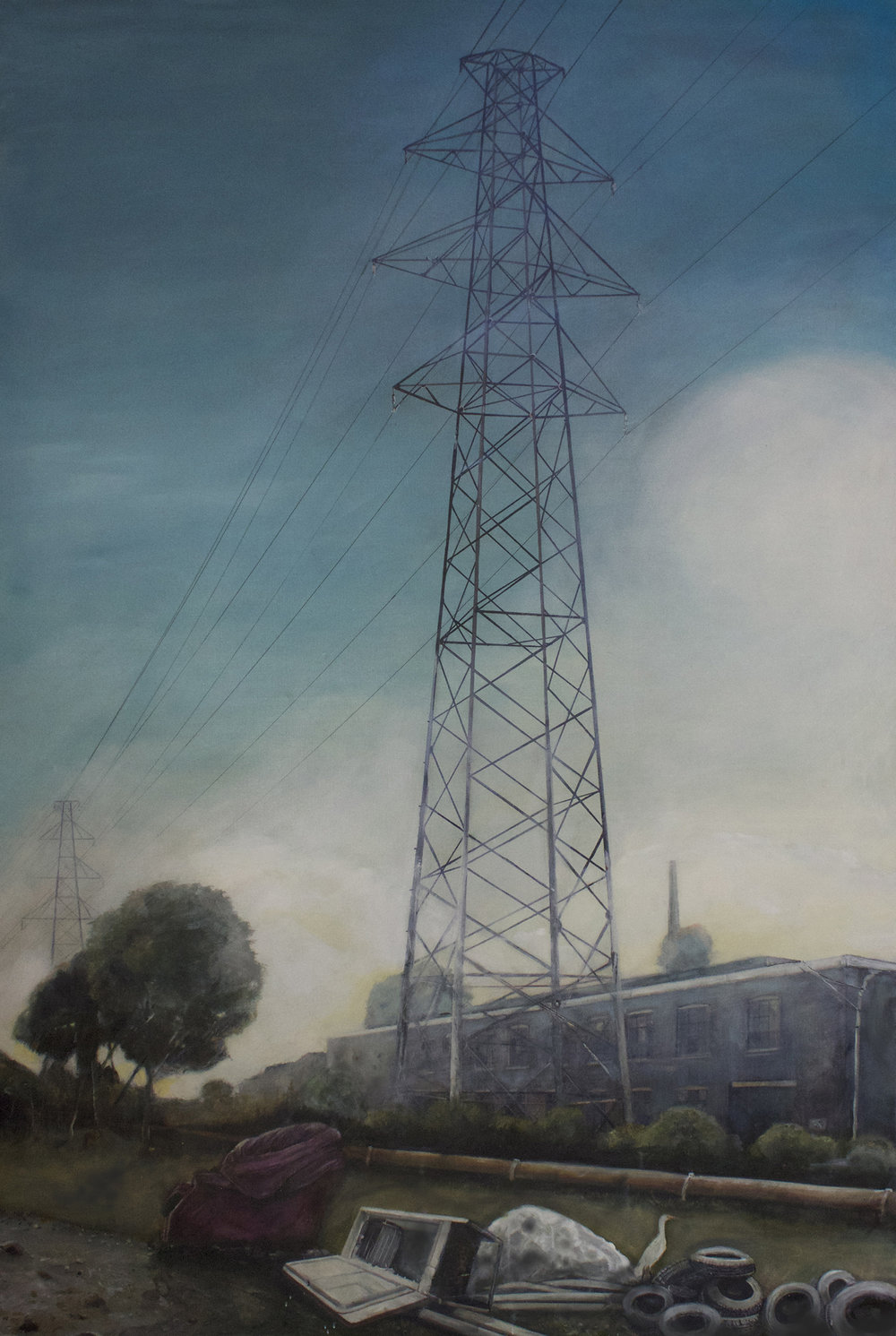 Lost Edgeland   2014, oil on linen  120 x 184 cm