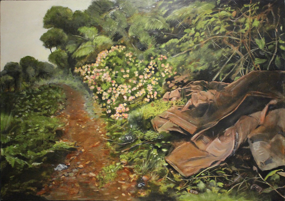 Discarded Memories   2016, oil on linen on hardboard  59 x 84 cm