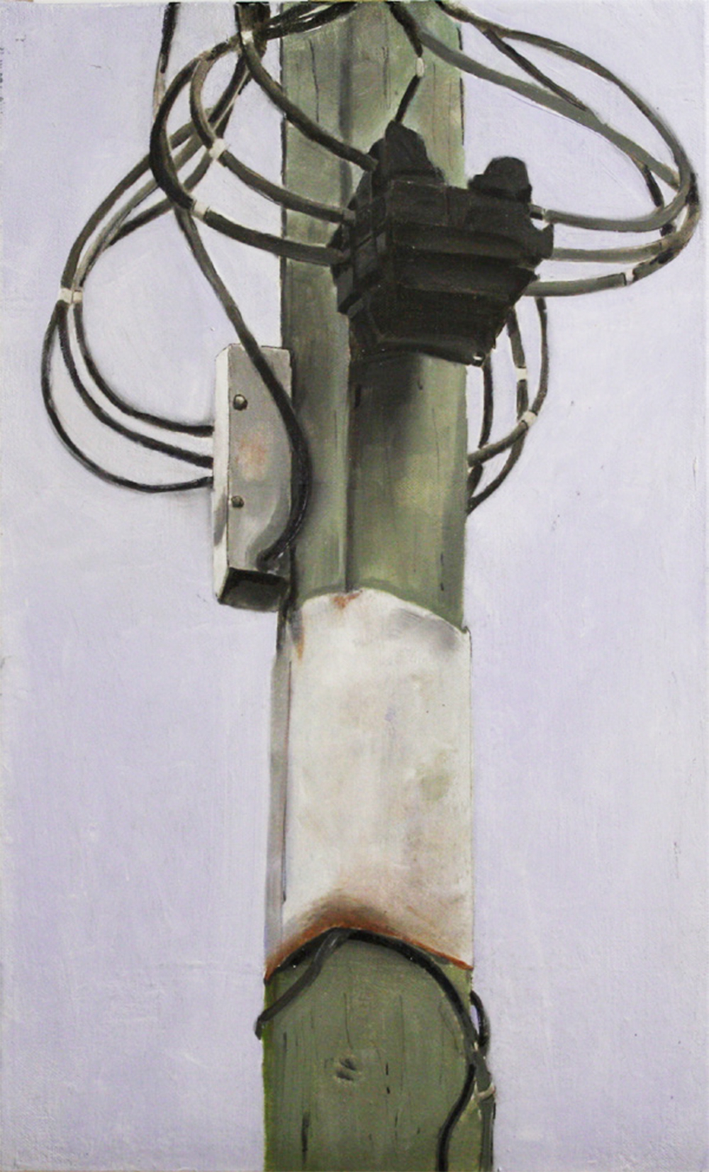 Stand Alone:  23782   2011, oil on canvas on hardboard  50 x 76 cm