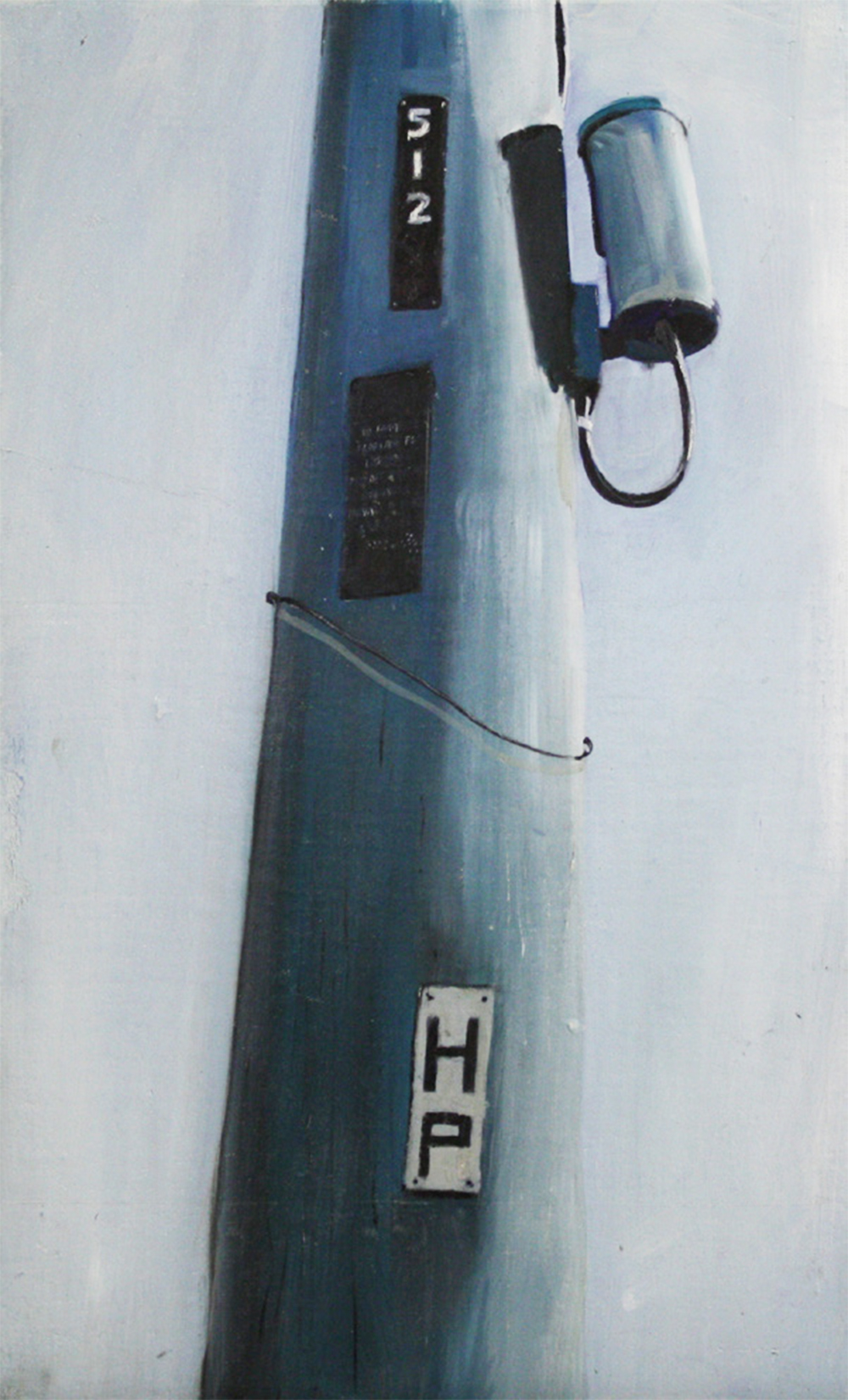 Stand Alone:   512   2011, oil on canvas on hardboard  50 x 76 cm