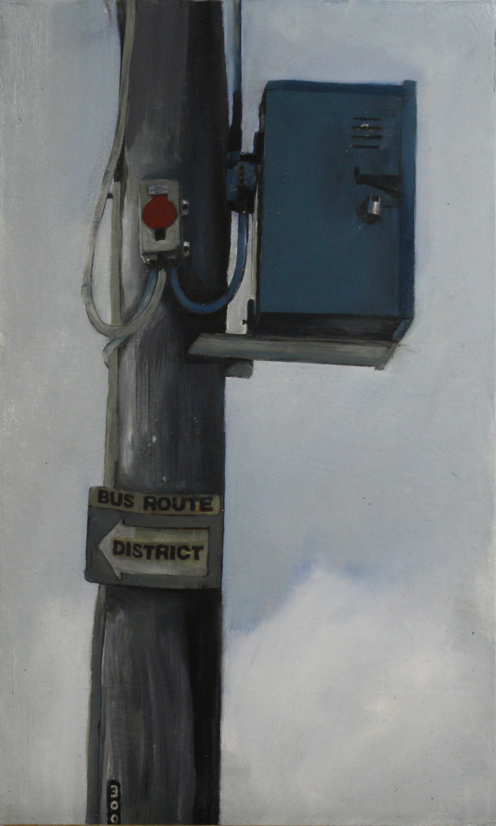 Stand Alone:  300   2011, oil on canvas on hardboard  50 x 76 cm