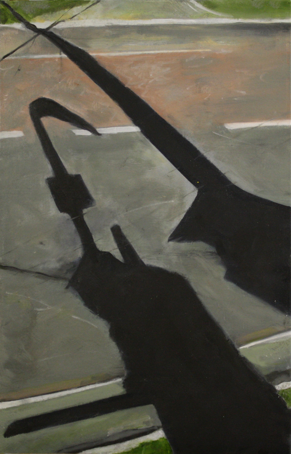 Shadows and Roads: 10616   2011, oil on canvas  50 x 76 cm