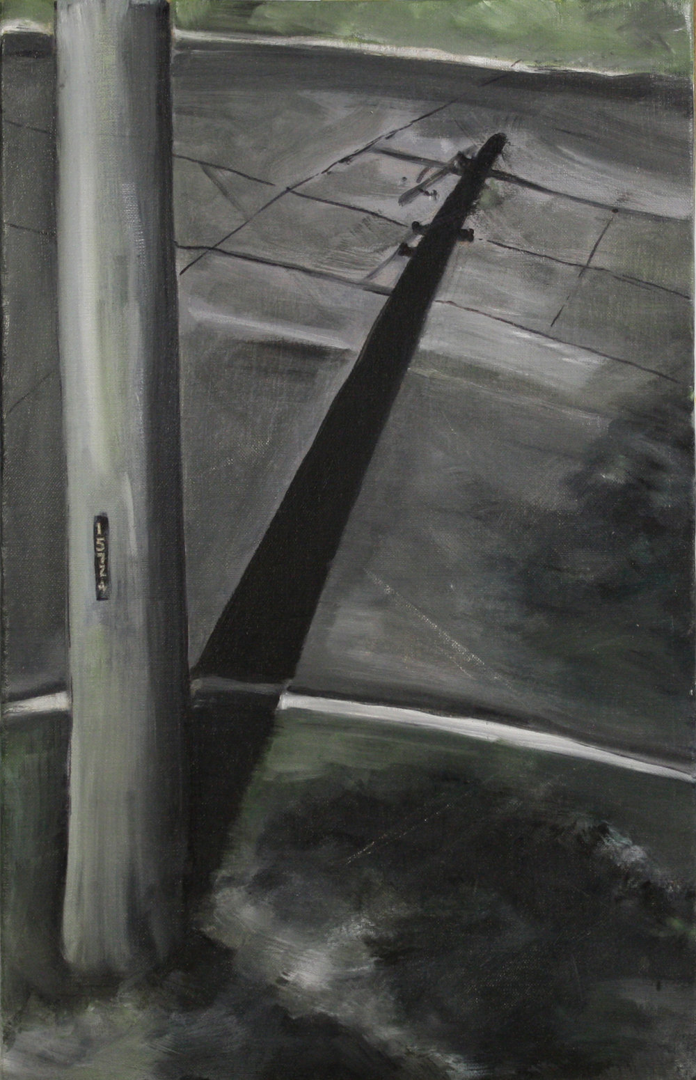 Pole and Roads  15724   2011 oil on canvas on hardboard  50 x 76 cm