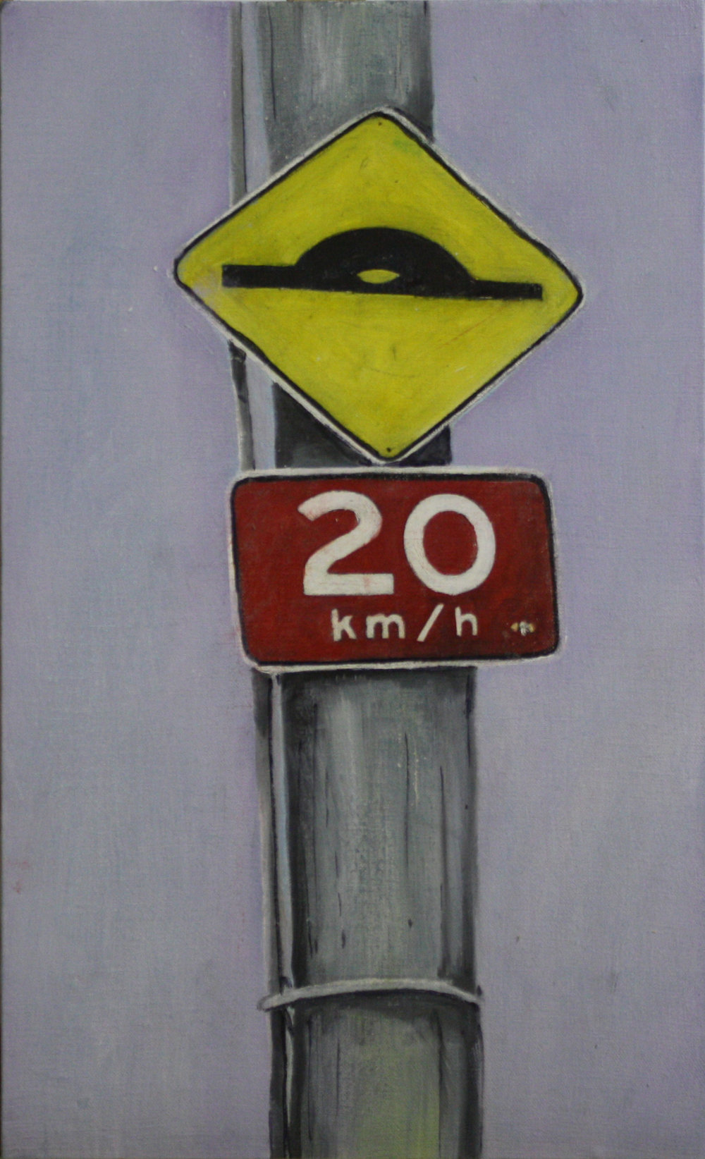 Stand Alone:  24711   2011, oil on canvas on hardboard  50 x 76 cm