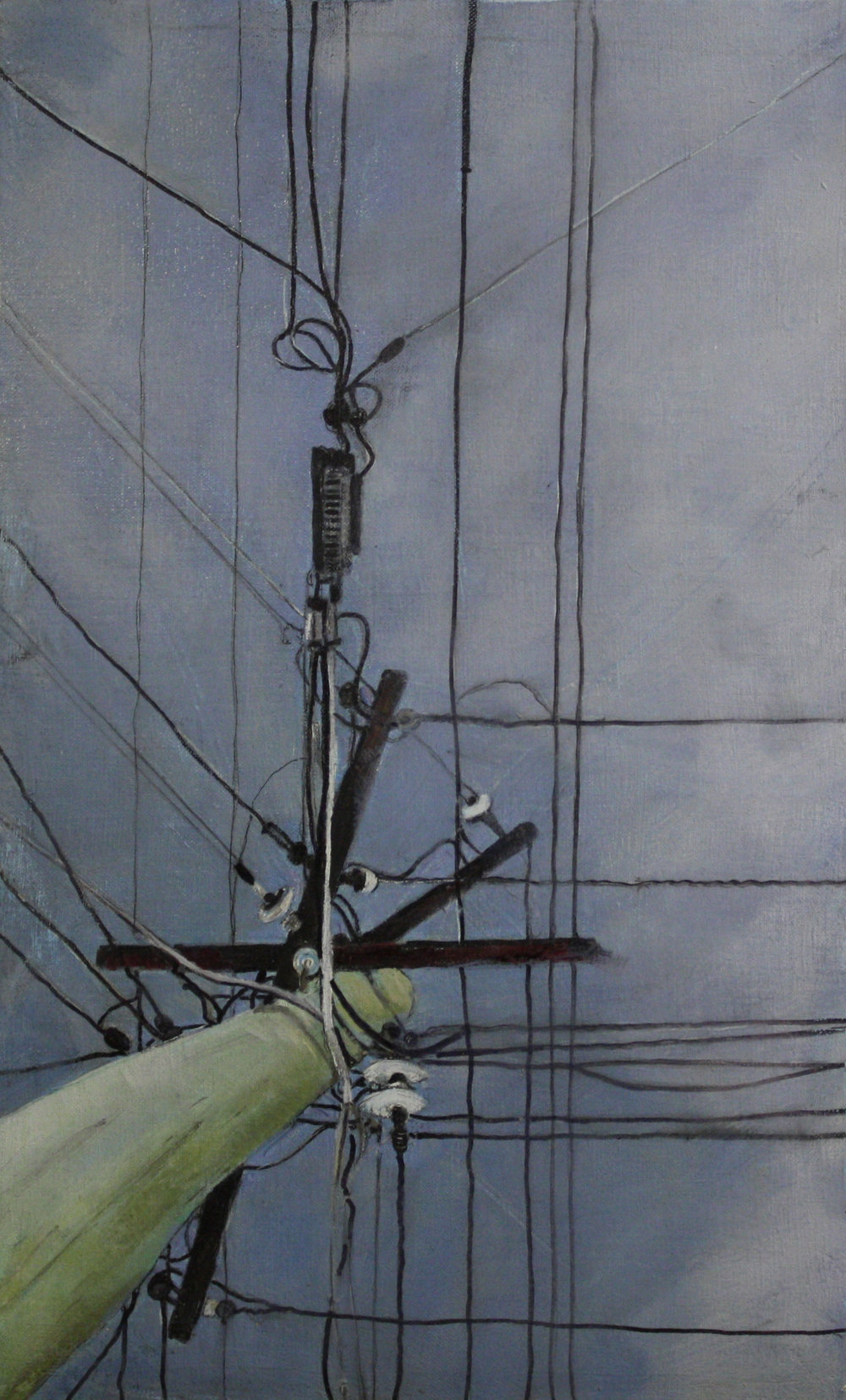 Looking Up: 4 1872   2011, oil on canvas  50 x 76 cm
