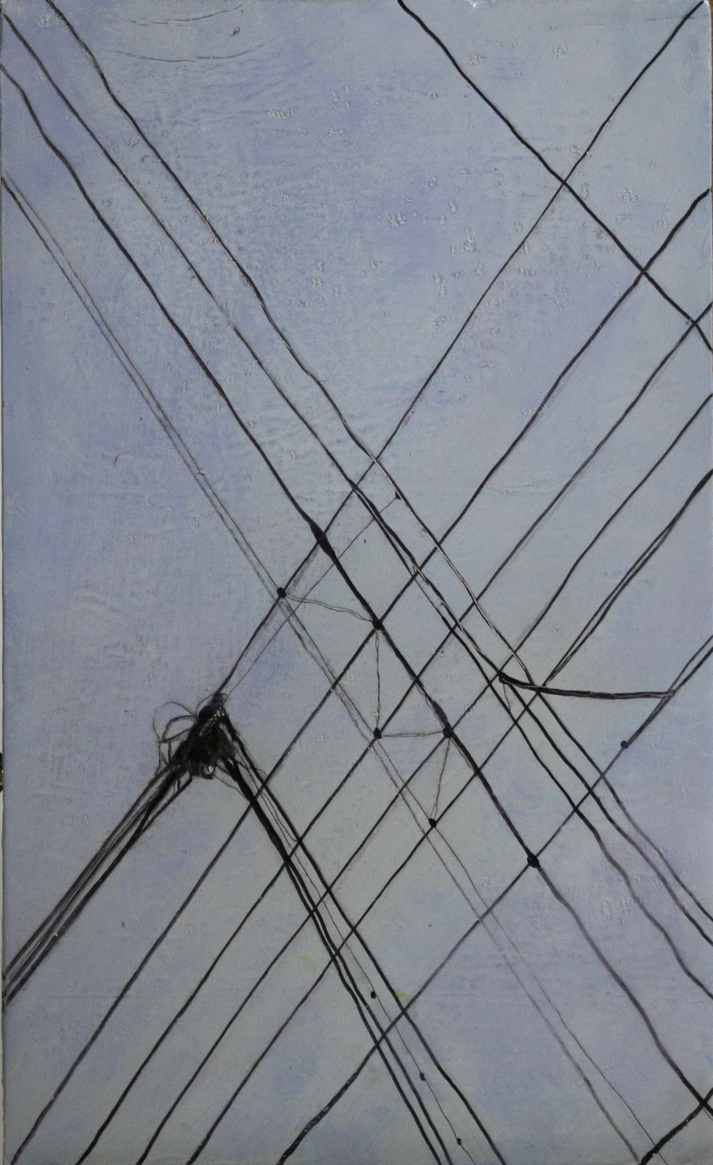 Wires:  74394   2011,oil on canvas on hardboard  50 x 76 cm