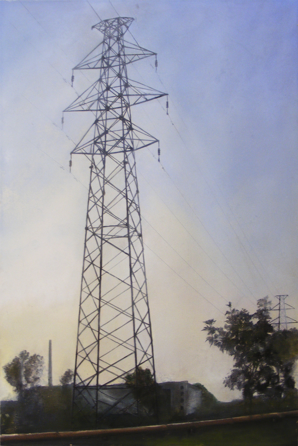 Edgeland 10   2012, oil on linen  50 x 76 cm
