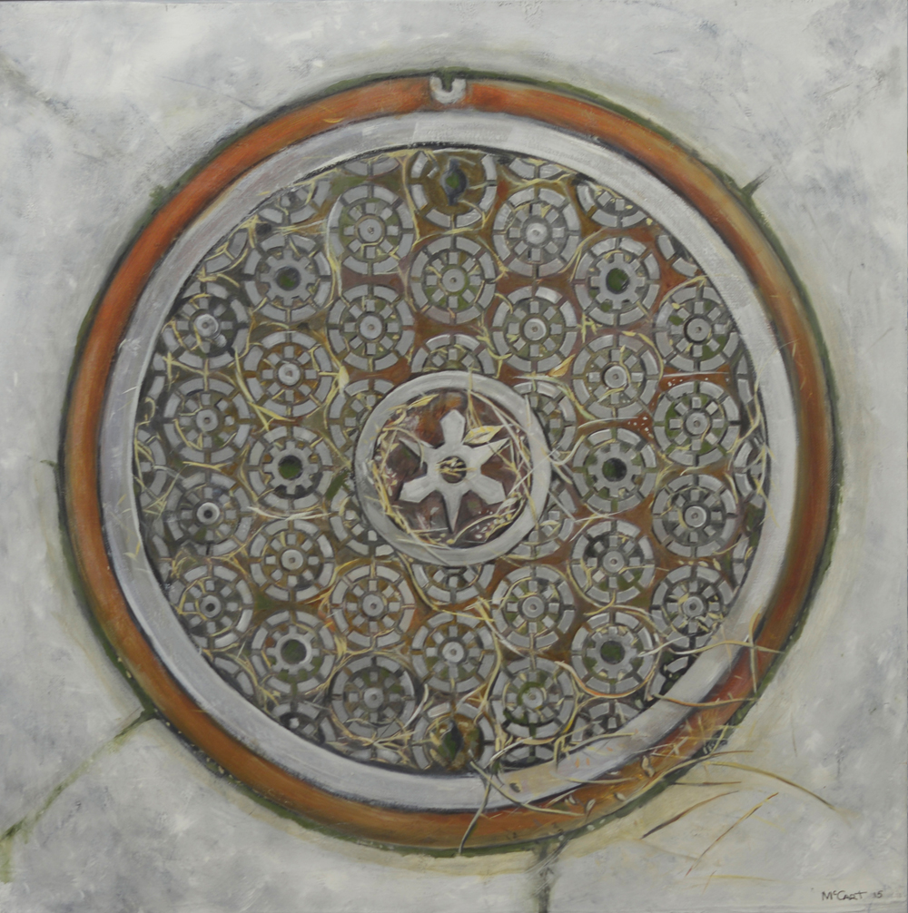 Shuriken of Kyoto, Nakagyo   2014, oil on canvas  60 x 60 cm