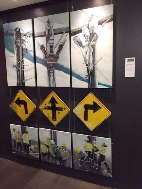 """Crossroads"" finalist Clayton Utz art prize 2016"
