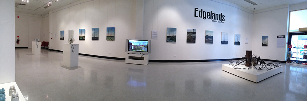 """Edgelands"" exhibtion Moreton Bay art gallery 2014"