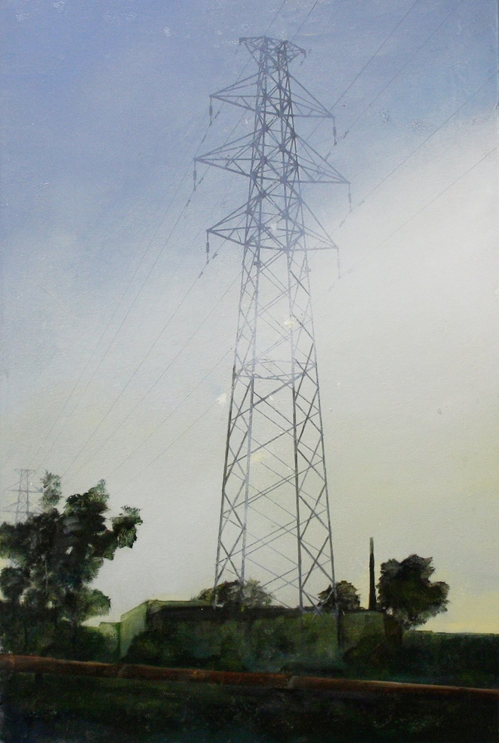 Edgeland 1   2012, oil on linen  50 x 76 cm