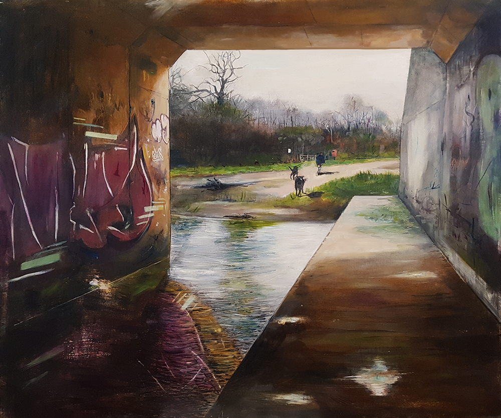 It is Solved by Walking, 2018 oil on canvas on board, 83 x 100 cm