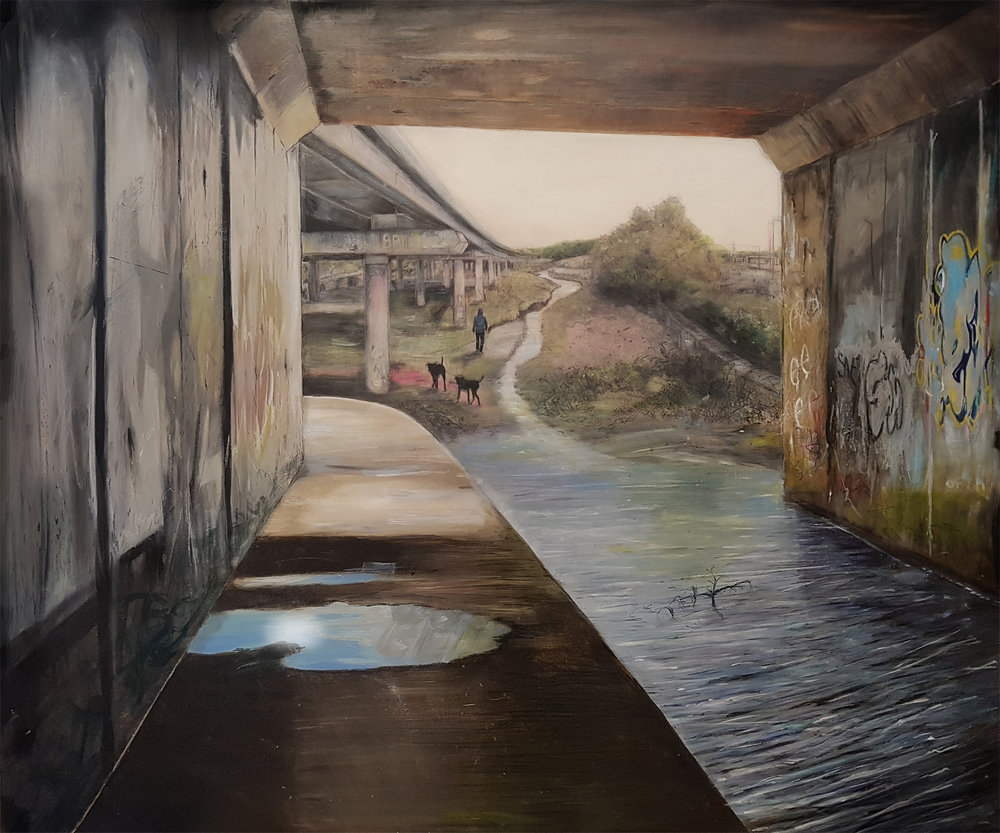 The Path of Least Resistance, 2018 oil on canvas on hardboard, 83 x 100 cm