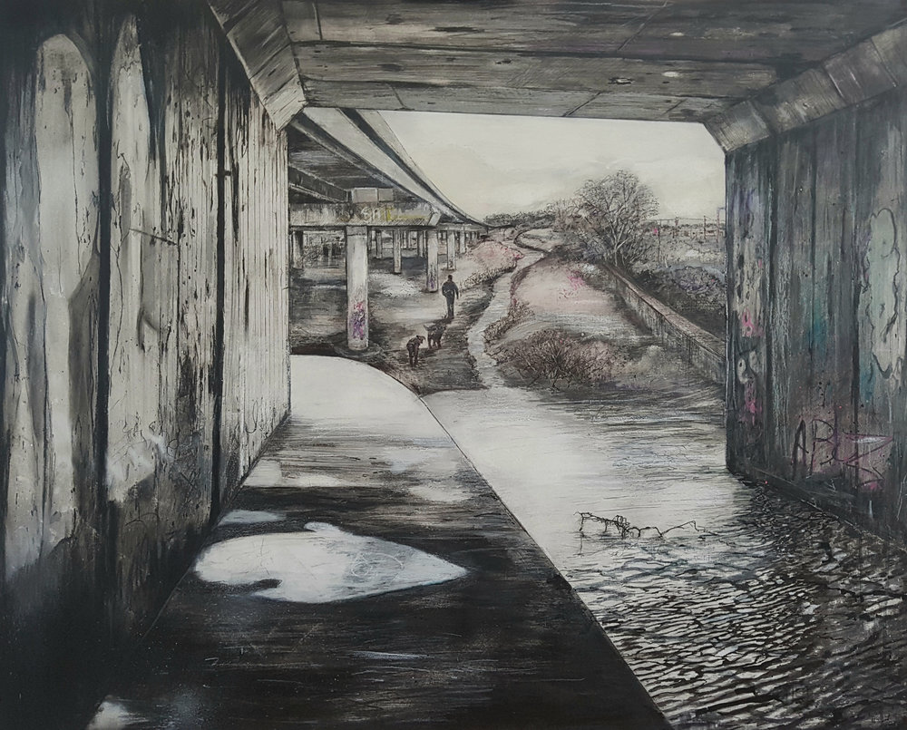 Seen and not Seen 2018  oil on canvas on hardboard, 83 x 100 cm