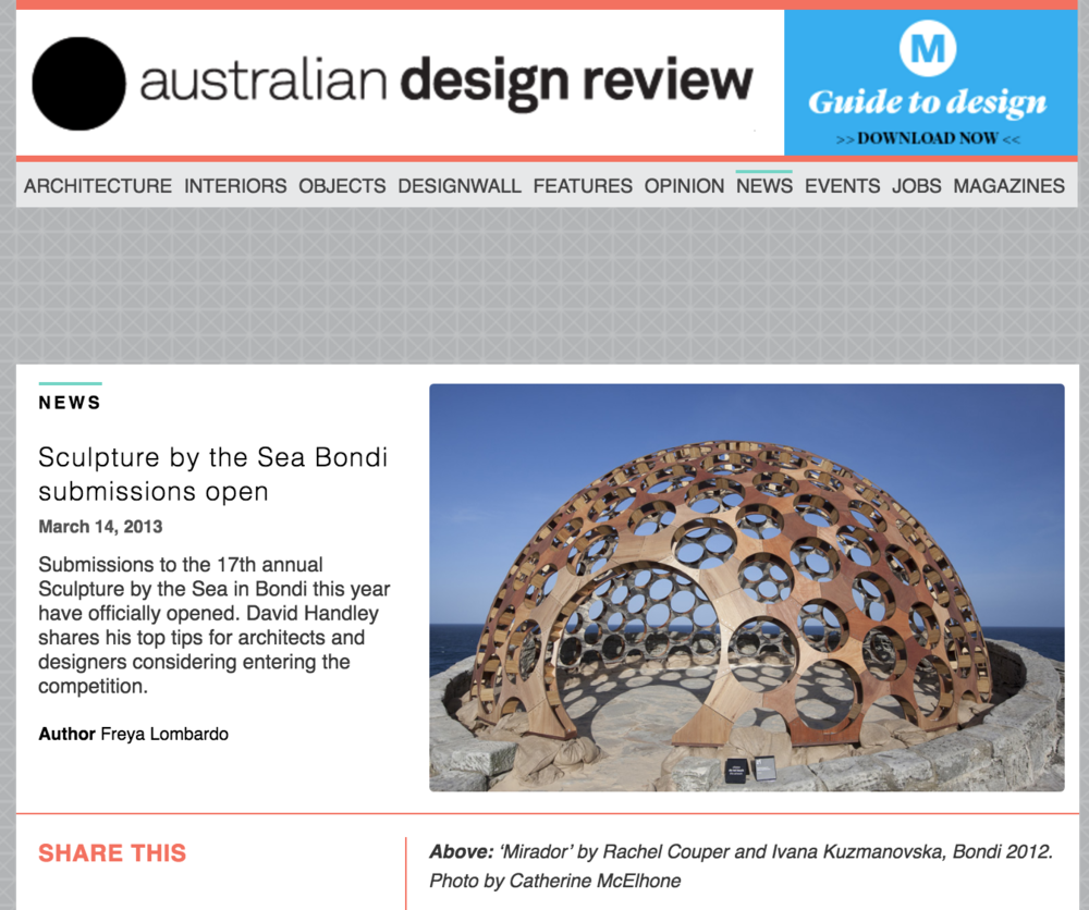 Australian Design Review, Sculpture By The Sea 2013