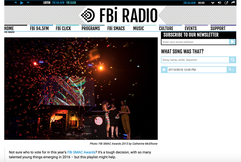 FBi Radio, Sydney Music, Arts & Culture Awards Photography