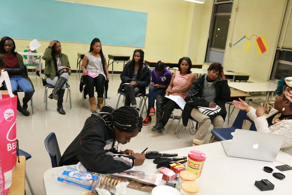 THE ART OF HAIRFacilitator |Coordinator - Arts based educational program using beauty to engage in conversation about identity and self-love to girls and young women ages 5-35. Twelve week sessions were held in Scarborough and the Lawrence Heights Community.