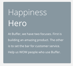 happiness hero buffer