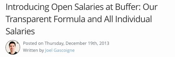 Buffer Salary Formula