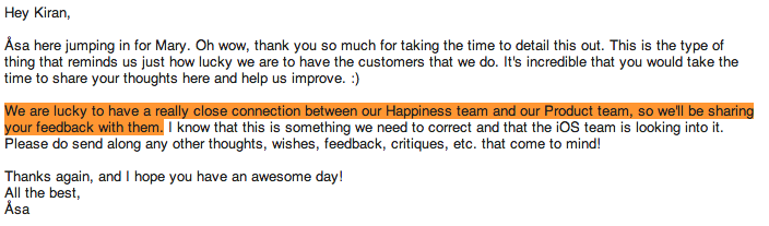 Buffer response to feedback