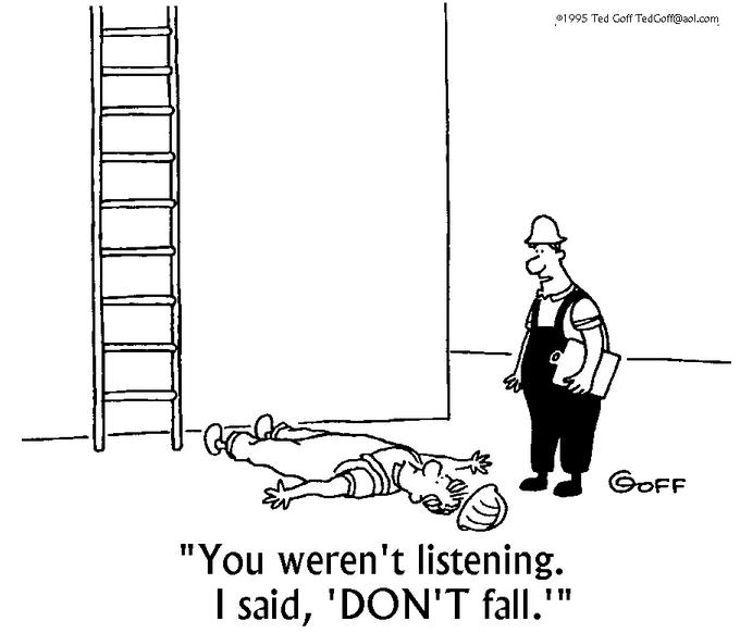 Ted Goff Listening Cartoon