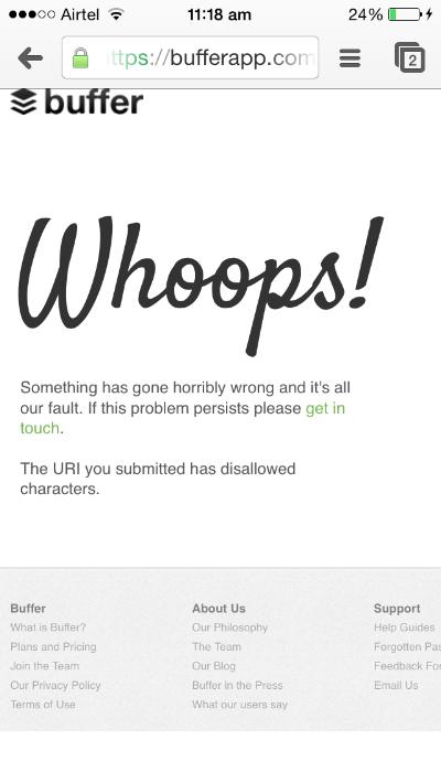 Buffer Error Screenshot