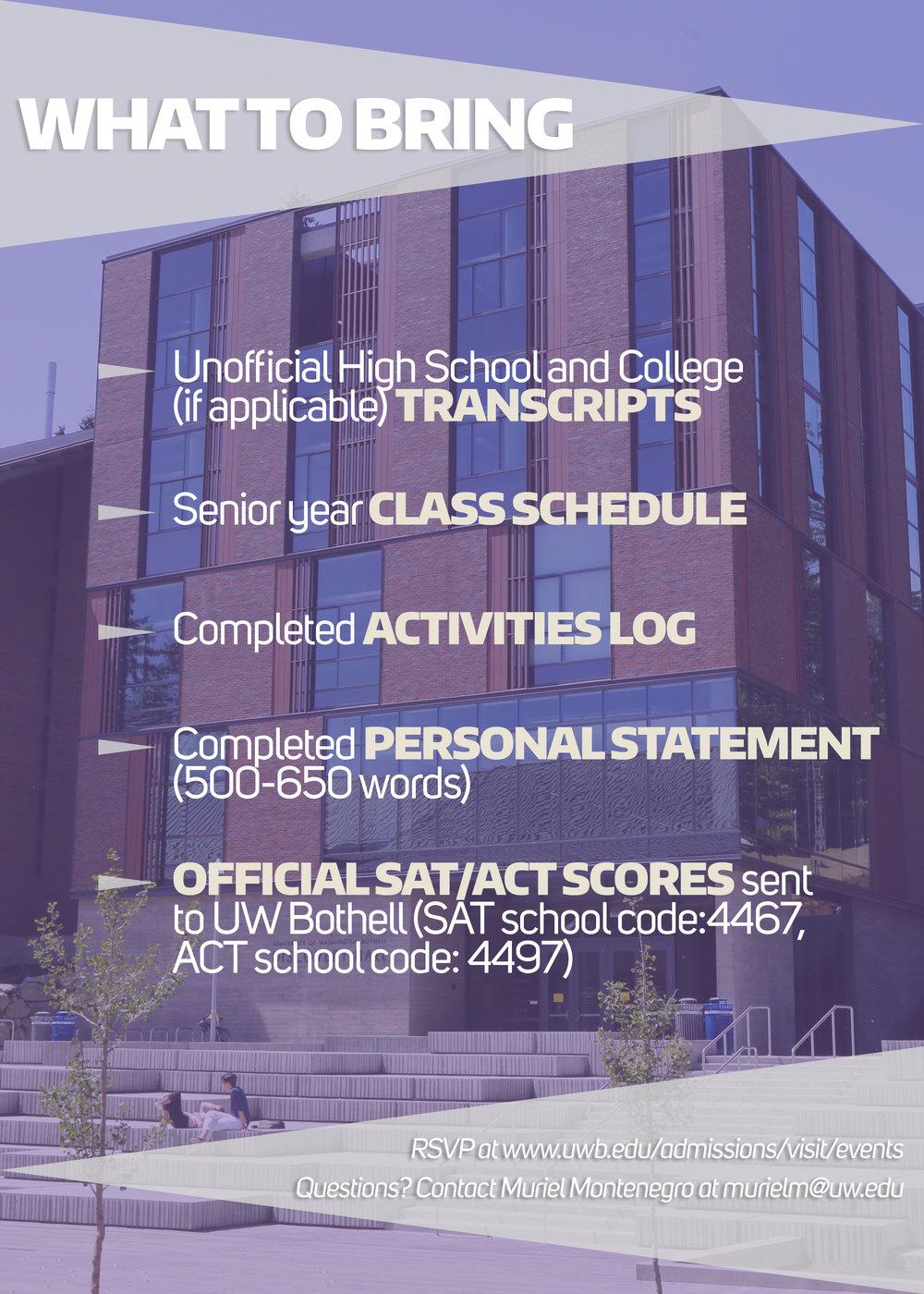 Senior Application Day Flyer (Back) September 2017