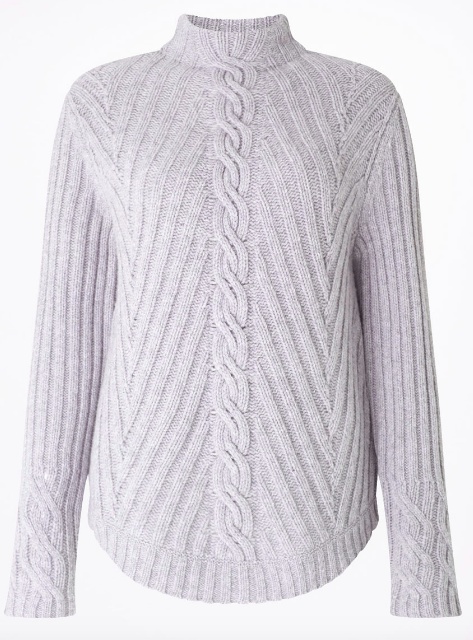 JIGSAW Cable Cuff jumper £135.00