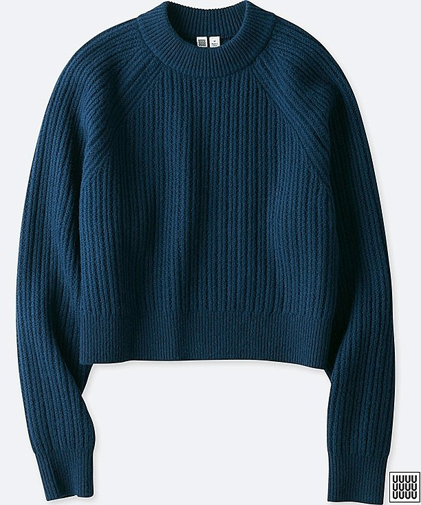 UNIQLO U Chunky ribbed mock neck sweater £34.90
