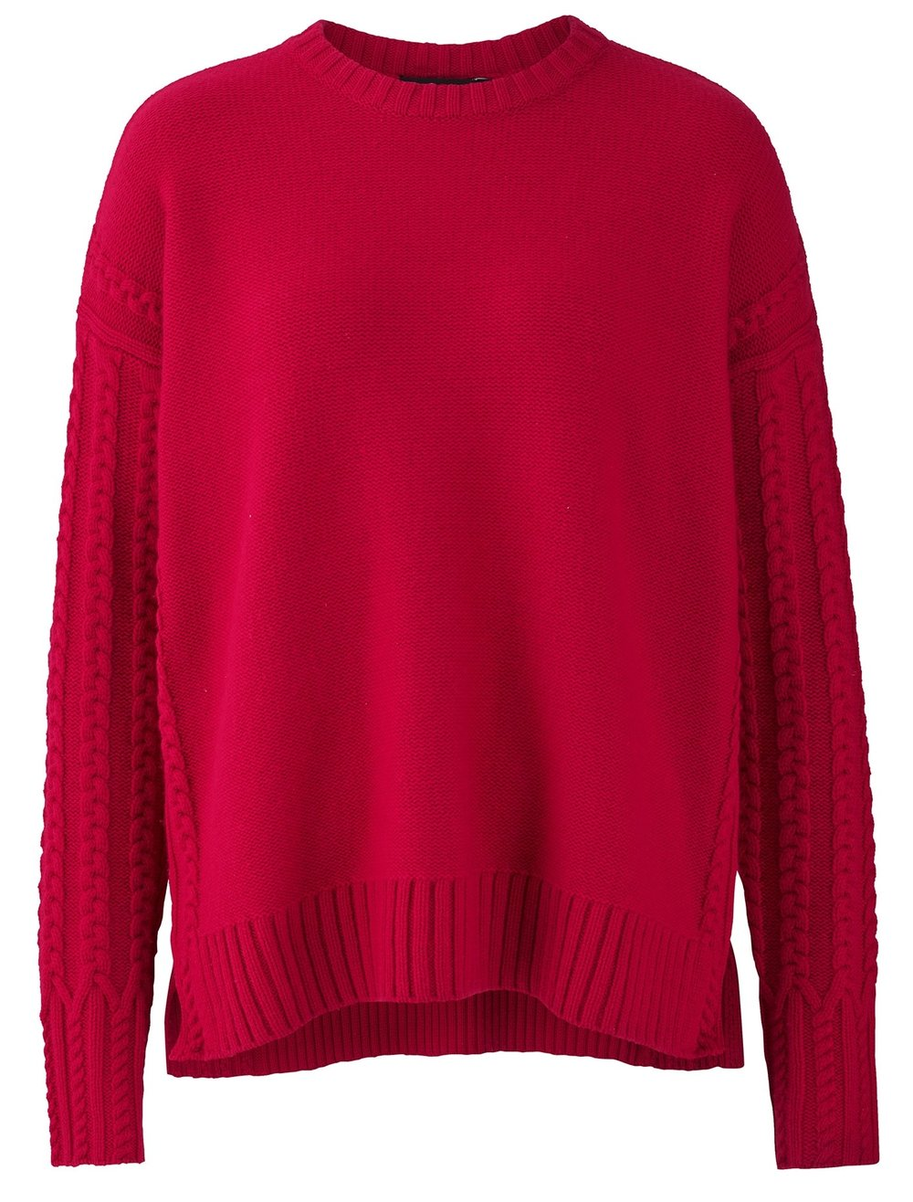 ME+EM Red Icon Cable sweater merino cashmere £199.00