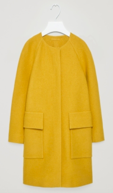 COS Round-neck A-line coat £150.00