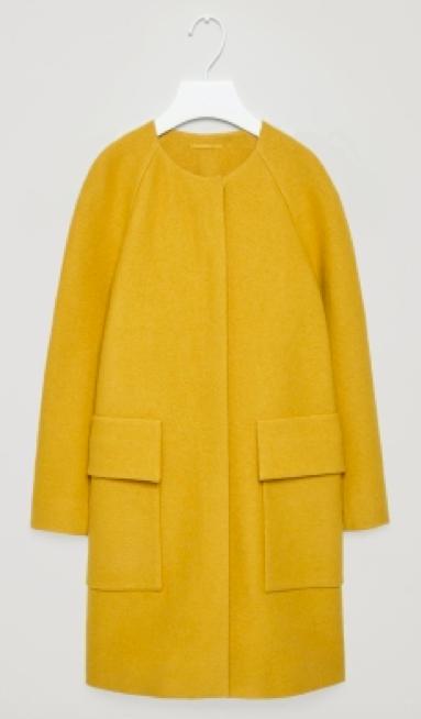 COS Round-neck A-line coat £150.00