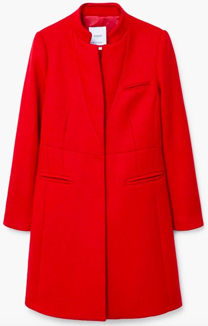 MANGO Pocketed wool coat £139.99