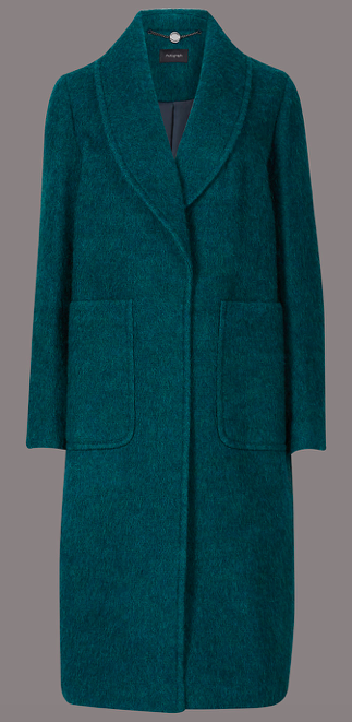 M&S AUTOGRAPH Textured Collared Neck Coat £119.00