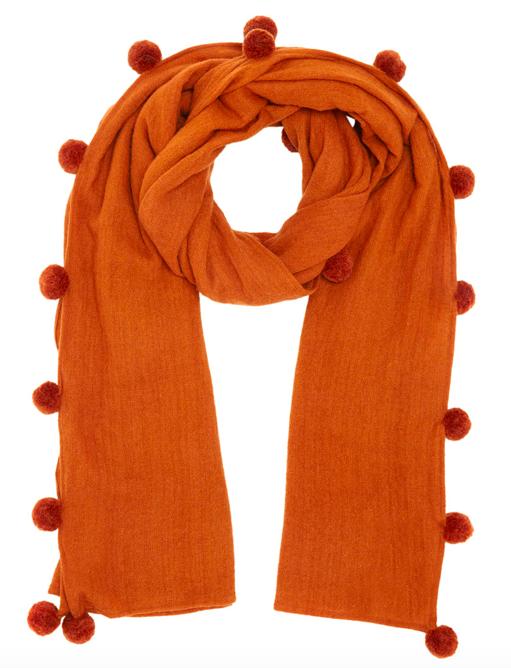 JIGSAW Solange wool Pom scarf  £70