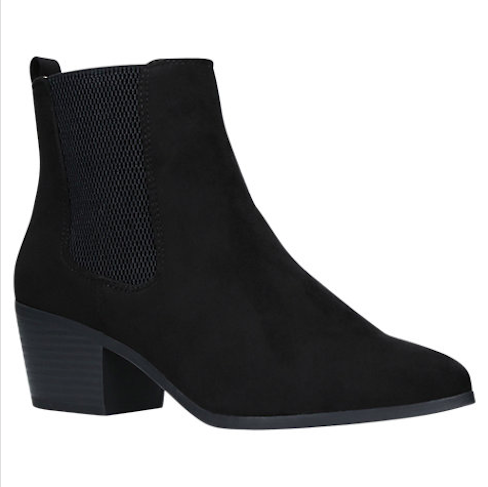 MISS KG TINA BLOCK HEELED ANKLE CHELSEA BOOTS, BLACK £49.00