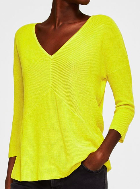 MANGO BACK VENT SWEATER SAND £19.99