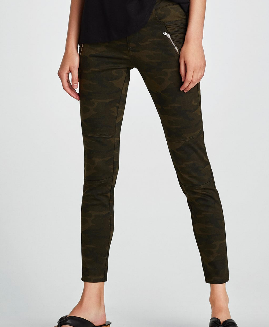 ZARA CAMOUFLAGE POWER STRETCH TROUSERS £25.99
