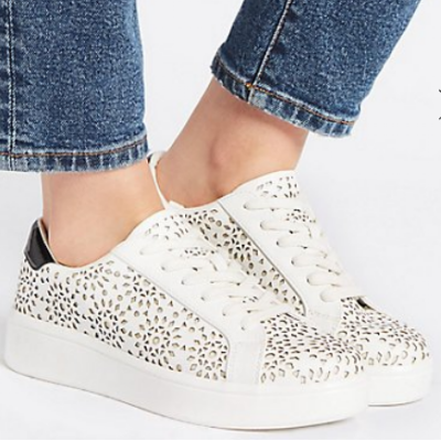 M&S  COLLECTION LACE-UP TRAINERS £35.00