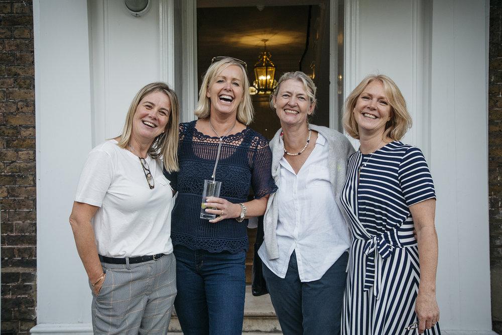 Gynaecologist Dr Karen Morton, centre right