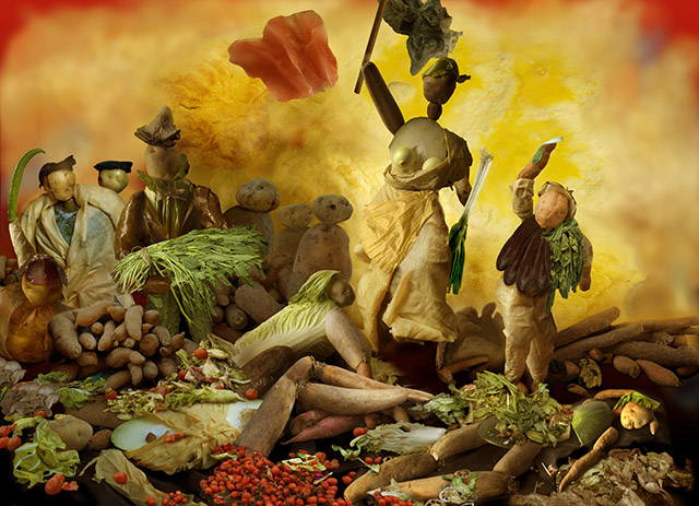 Liberty Leading The Vegetables