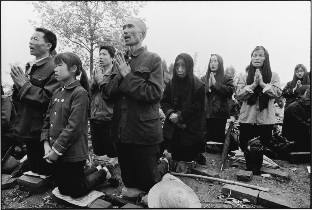 Worshippers Receive Communion in the Open Air, Shaanxi, China