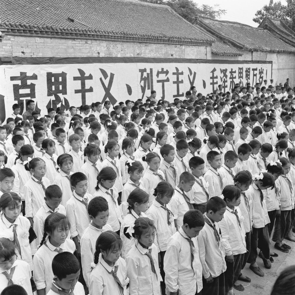 Young Students at a Memorial Service