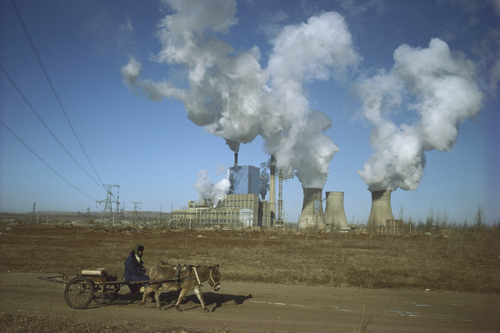 A power station near Baotou, Inner Mongolia