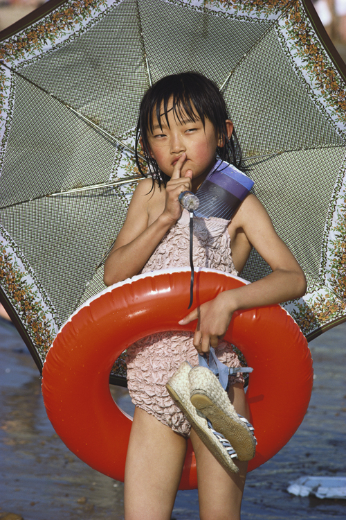 A girl at the beach in Qingdao, Shandong Province