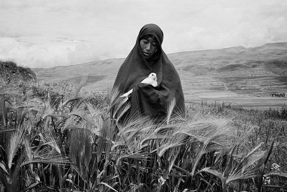 A nun holding a dove, Sichuan