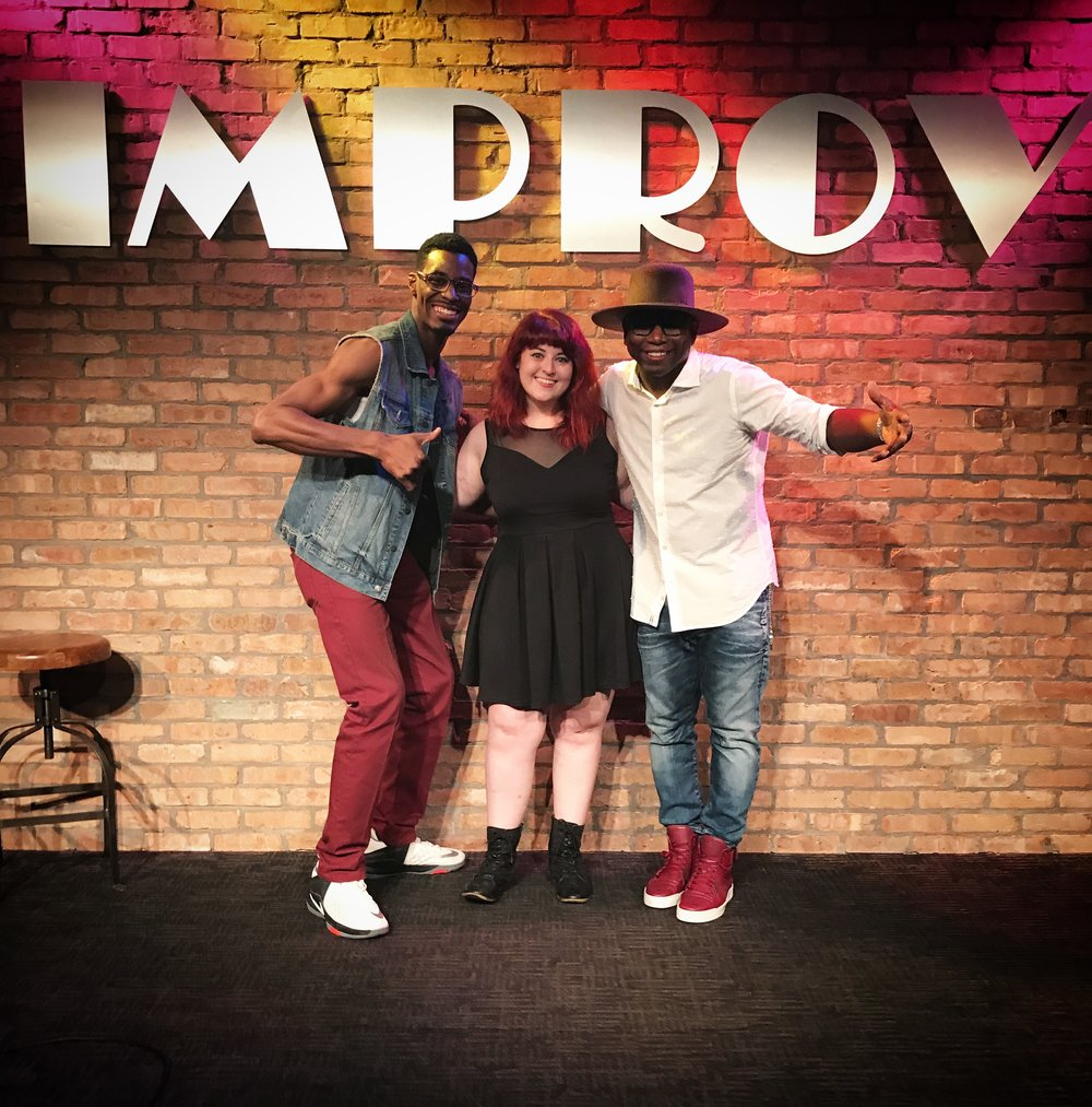 Arlington Improv with host Dexter Givens (left) and headliner Guy Torry (right)