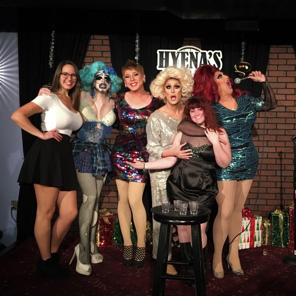 - Hyena's Comedy Club in Dallas, TX for a drag/comedy show